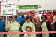 Shore Memorial Employees await the start of this year's Heart Walk on the Ocean City boardwalk. Pictured left to right are Shore Memorial employees Lucy Perna, education BLS trainer, Stacy Ross, clinical supervisor, Judi Marshall, cafeteria and M